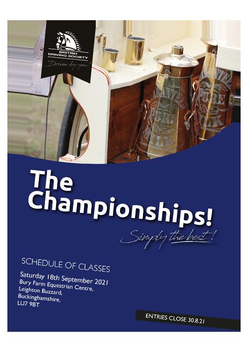 BDS Championship Show 2021 Schedule